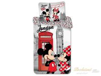 Povlečení Mickey a Minnie in London Telephone 70x90, 140x200
